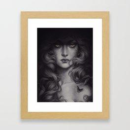 Black Butterfly Framed Art Print