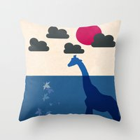 africa Throw Pillows featuring Africa by Mehdi Elkorchi