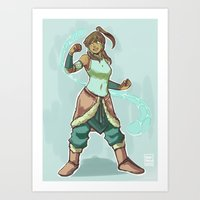 korra Art Prints featuring Korra by beroberos