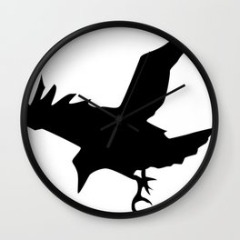 Raven A Halloween Bird Of Prey  Wall Clock