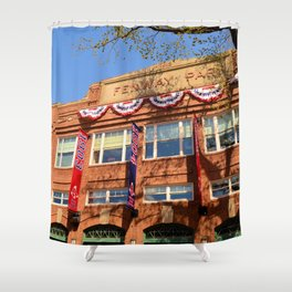 Fenway Spring - Fenway Park in Boston on Opening Day, Red Sox Shower Curtain