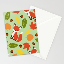 Fox Jumble - Sea Foam Stationery Cards