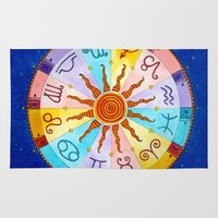 zodiac Area & Throw Rugs featuring Zodiac by Sandra Nascimento
