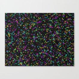 Glitch Grid Canvas Print
