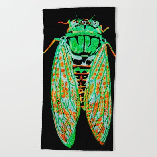 Cicada (Inverted) Beach Towel