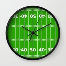 Football Field Wall Clock