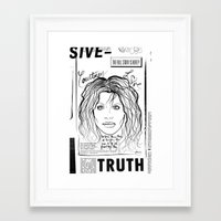 scandal Framed Art Prints featuring Courtney Scandal by CLSNYC