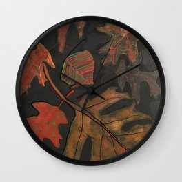 """Georgia Leaves"" Wall Clock"