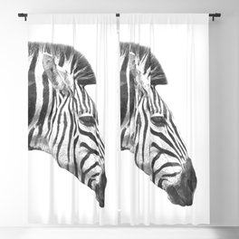 Black and White Zebra Profile Blackout Curtain