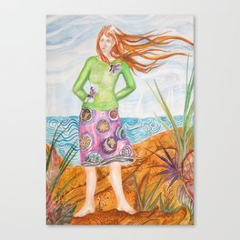 Sandy Winds Canvas Print