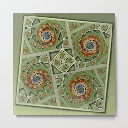 Squared Spirals 150513-012 Metal Print
