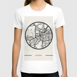 Abstract City Map Art - Pune India T-shirt