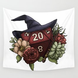Wizard Class D20 - Tabletop Gaming Dice Wall Tapestry