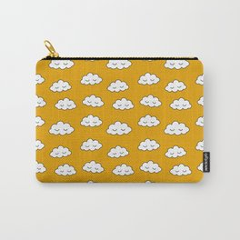 Dreaming clouds in honey mustard background Carry-All Pouch
