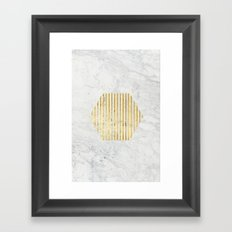 esa gOld Framed Art Print