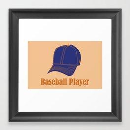 Baseball Player Framed Art Print