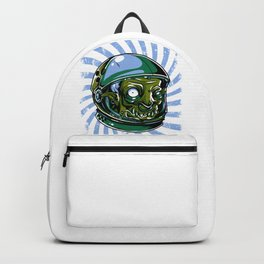 Astronaut Zombie Scary Face - I WAS TAKEN BY ALIENS Backpack