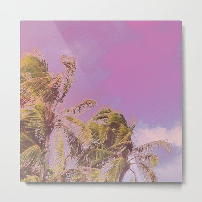 Swaying Palm Trees Metal Print