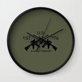 M4 Assault Rifles Wall Clock
