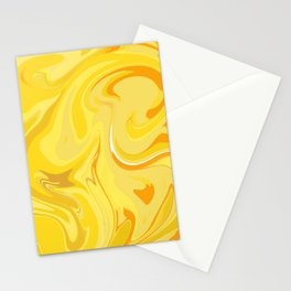 yellow sound Stationery Cards