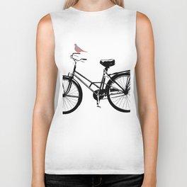 Baker's bicycle with bird Biker Tank