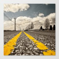 road Canvas Prints featuring Road by Color and Patterns