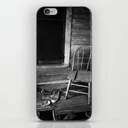 Old Chair in an Abandoned House iPhone Skin