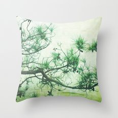 Winter Pine Throw Pillow