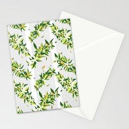Orange Blossom Stripes Stationery Cards