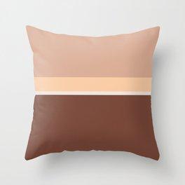 Lines Print Brown, Rosewood and Caramel  Throw Pillow