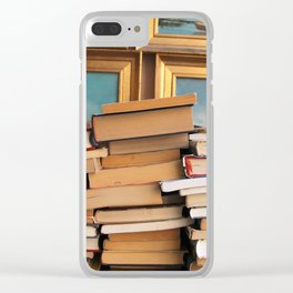 A pile of second hand books Clear iPhone Case