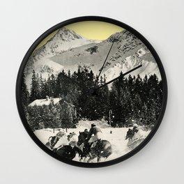 Winter Races Wall Clock