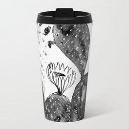 Black And White Cacti Travel Mug