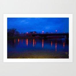 Light Reflections On Water Art Print