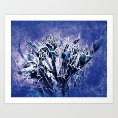 Thistle and Weeds_deep purple Art Print
