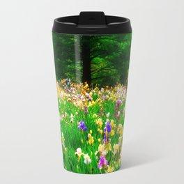 Field Of Iris Travel Mug