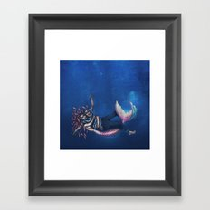 Mermaid & Sailor Framed Art Print