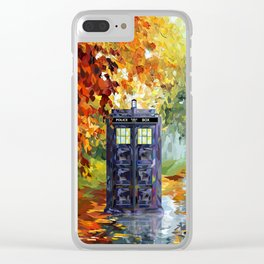 Starry Autumn Blue Phone Box Clear iPhone Case