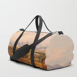 Illustrations Of Guyana South America Natural Scenes Hand Drawn Duffle Bag