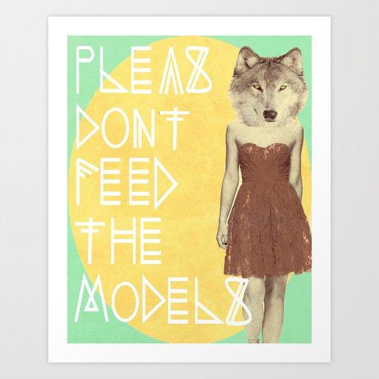 MODEL BEHAVIOR Art Print