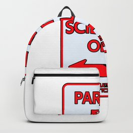 Scientists Parking sign teacher Backpack