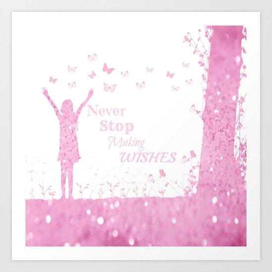 Pink Wishes Art Print
