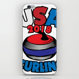 USA 2018 Curling American Curler Winter Sport iPhone Skin