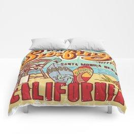 The Best Surfing – Santa Monica Beach Comforters