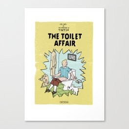 Tintin Cover Parody | The Toilet Affair Canvas Print