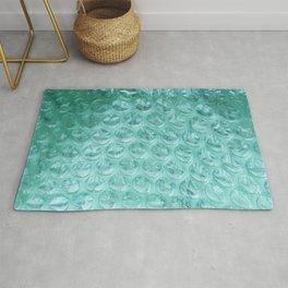 Aqua Bubble Wrap Rug