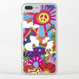 Woodstock- Peace Clear iPhone Case