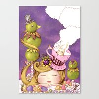 neverland Canvas Prints featuring Neverland by Eunice Ng