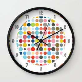 Tangled Up In Colour Wall Clock
