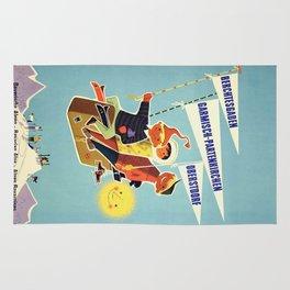 Vintage Travel Poster Rug